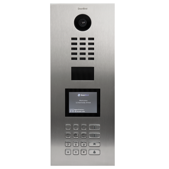 DoorBird Flush Mounted Multi-Unit IP Video Door Station w/ Display & Keypad + 10 RFID Tags + Installation