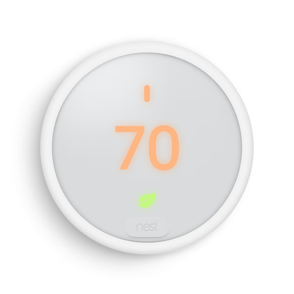 Nest Thermostat E with Professional Installation (single fan speed only) (T2LP)