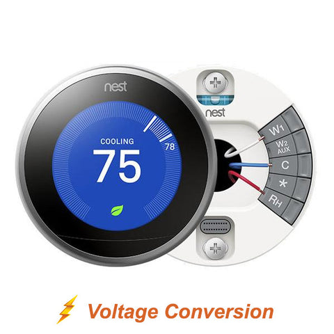 Nest Smart Thermostat + Installation + Voltage Conversion