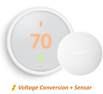 Nest Thermostat E w/Professional Installation + 1 Remote Sensor  (single fan speed only) (T2)