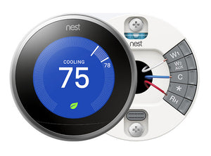 Nest Pro Smart Thermostat w/ Professional Installation and Humidifier Tune-up & Integration w/ Single Fan Speed Included (T1LH)