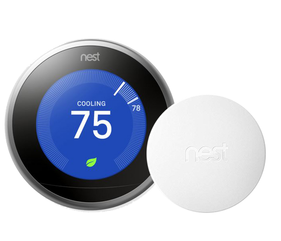 Nest Pro Smart Thermostat w/ Professional Installation and Humidifier Tune-up & Integration + 1 Remote Sensor w/ Single Fan Speed Included (T1LH)