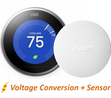 Nest Pro Smart Thermostat w/ Professional Installation + 1 Remote Sensor + 3 Fan Speeds Included (T2W)