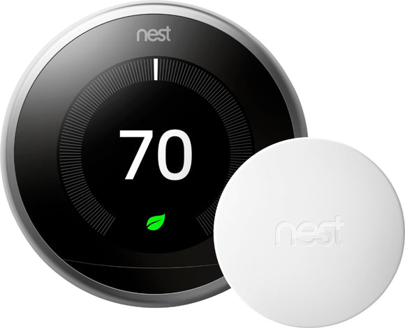 Nest Learning Thermostat + Installation + 1 Remote Sensor