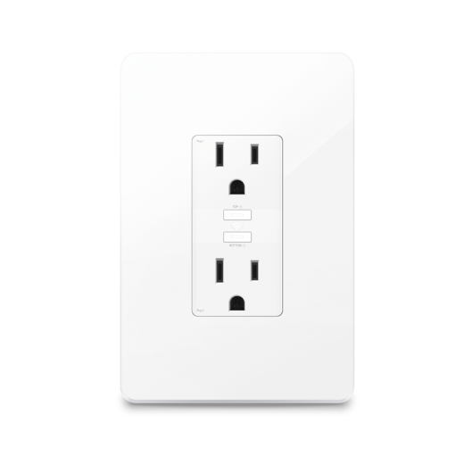 Kasa Smart Wi-Fi Power Outlet w/2-Sockets + Installation