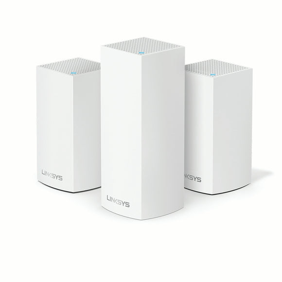Linksys Velop Intelligent Mesh WiFi System, Tri-Band White + Installation
