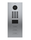 DoorBird Flush Mounted Video Door Station with Call Buttons: Installation Only
