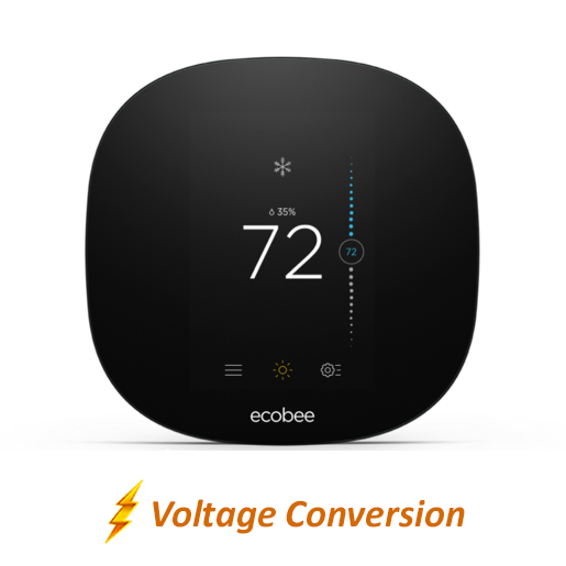 Ecobee3 Lite Smart Thermostat w/ Professional Installation + 1 Remote Sensor and Single Fan Speeds Included (T2W)