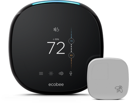 BYOD Ecobee4 Smart Thermostat Professional Installation + 1 Fan Speed Included (T1)