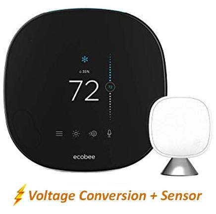 Ecobee5 Smart Thermostat w/ Professional Installation + 1 Remote Sensor + Up to 3 Fan Speed Included (T4)