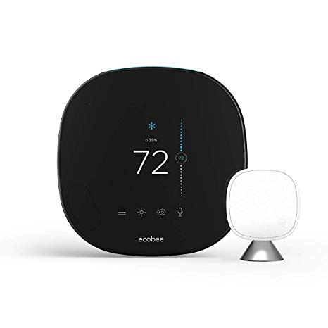Ecobee5 Smart Thermostat w/ Professional Installation and Humidifier Tune-up & Integration + 1 Remote Sensor w/ Single Fan Speed Included (T1LH)