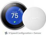 Nest Pro Smart Thermostat w/ Professional Installation + 1 Remote Sensor + 3 Fan Speeds Included (T1L)DEL