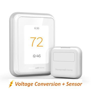 Honeywell Home T10 WIFI Smart Thermostat w/ Professional Installation + 1 Remote Sensor + Single Speed Included (T3)