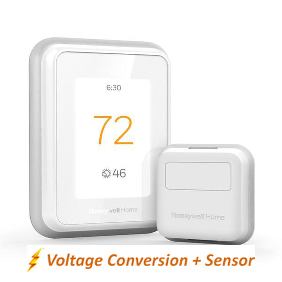 Honeywell Home T10 WIFI Smart Thermostat w/ Professional Installation + 1 Remote Sensor + Dual Fan Speed Included (T3P-HFC-CON)
