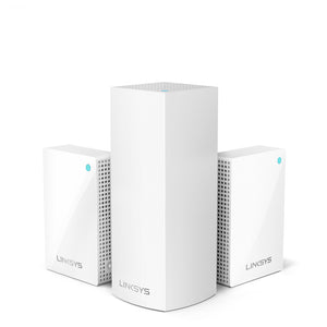 Linksys Velop Intelligent Mesh WiFi System, Tri-Band, 3-Pack with Plug-Ins + Installation