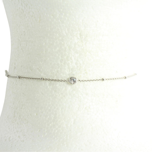 plain simple silver choker
