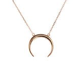 rose gold horn necklace