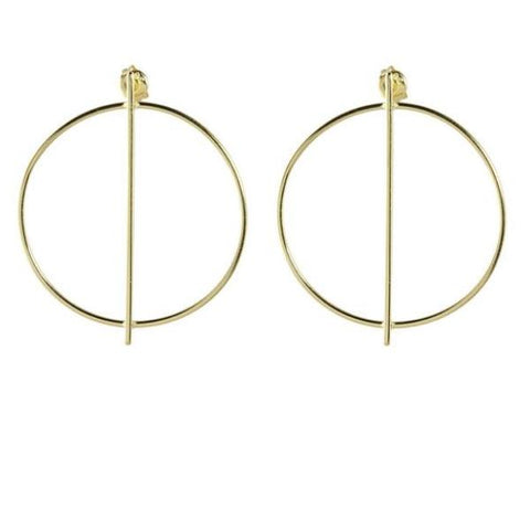 door knocker hoop earrings
