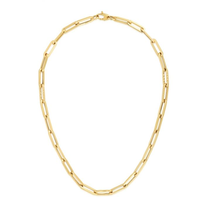 14K GOLD LARGE PAPERCLIP CHAIN