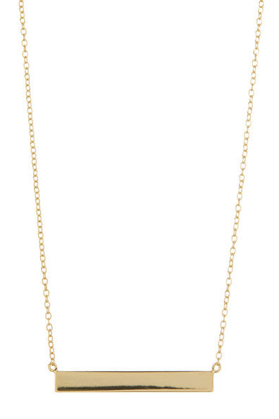 CLASSIC BAR NECKLACE - adammarcjewels