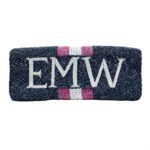 BEADED NAME CLUTCH - adammarcjewels