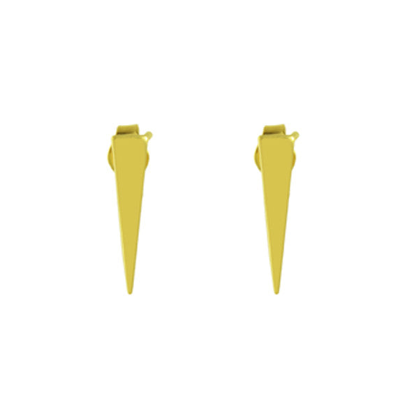 14k SPIKE STUD EARRINGS - adammarcjewels