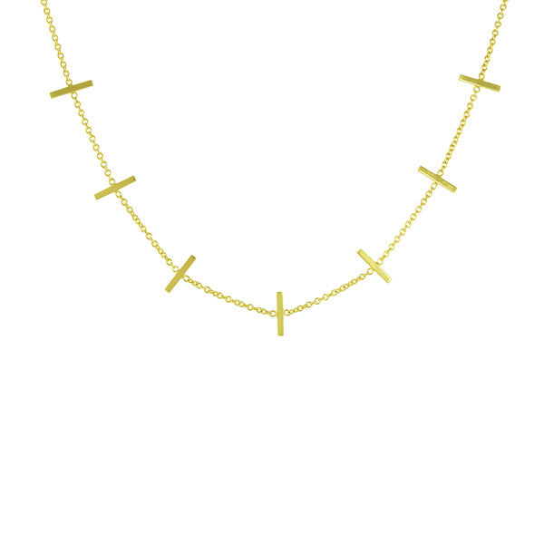 14k GOLD STAPLE NECKLACE