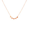14K STACKED MINI TRIANGLES NECKLACE