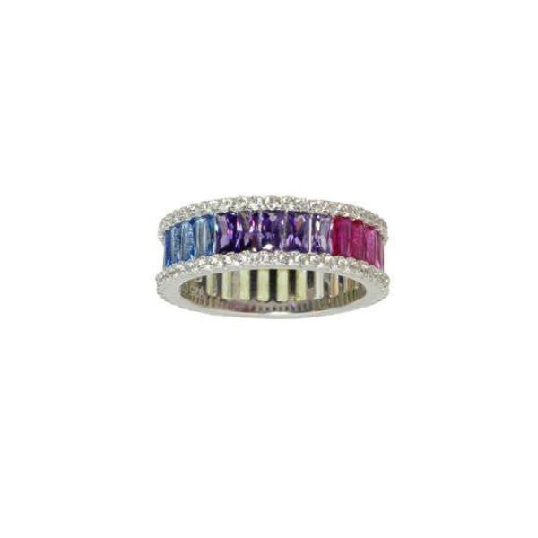 COLORED BAGUETTE ETERNITY BAND - adammarcjewels