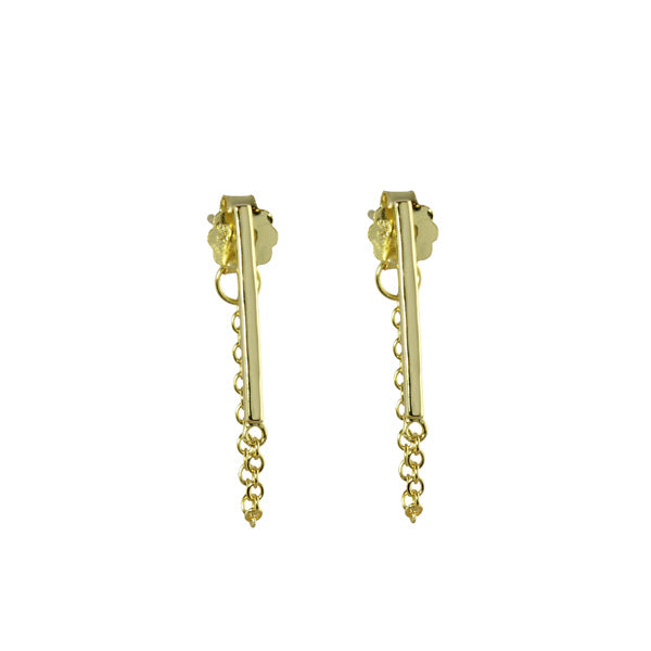 BAR & CHAIN  EARRINGS