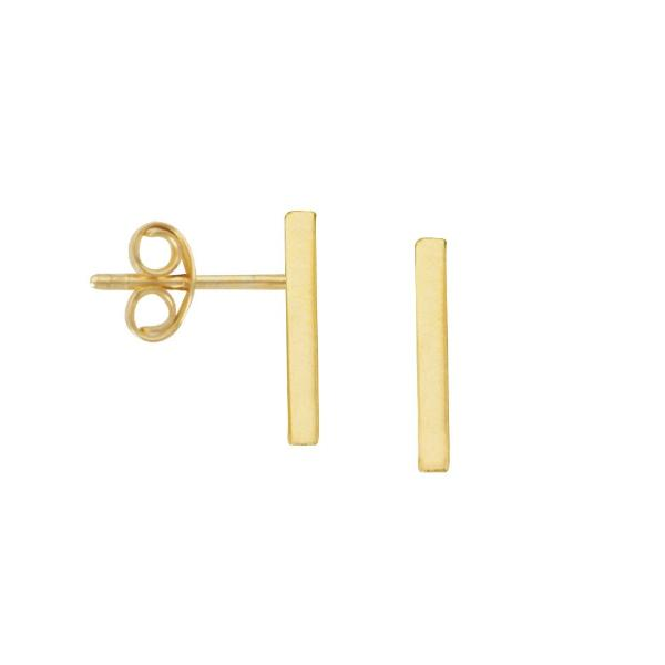 GOLD BAR STUDS - adammarcjewels