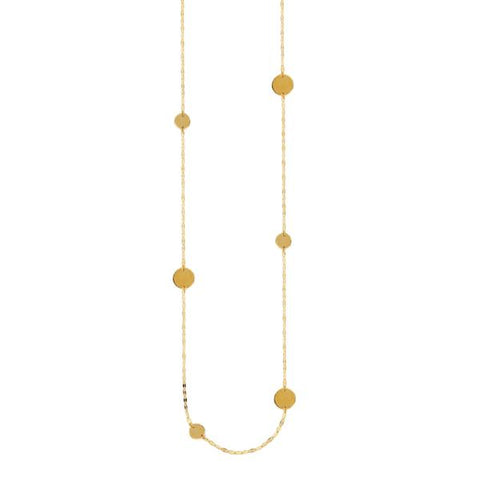 "36"" gold necklace"