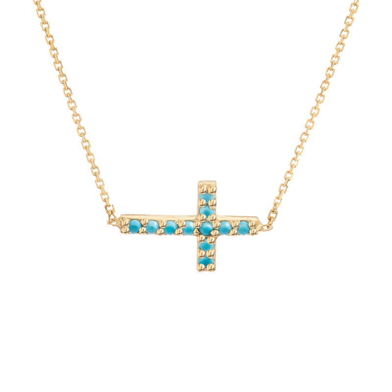TURQUOISE SIDE CROSS