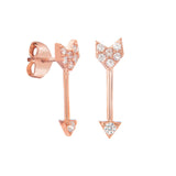GOLD ARROW STUDS - adammarcjewels