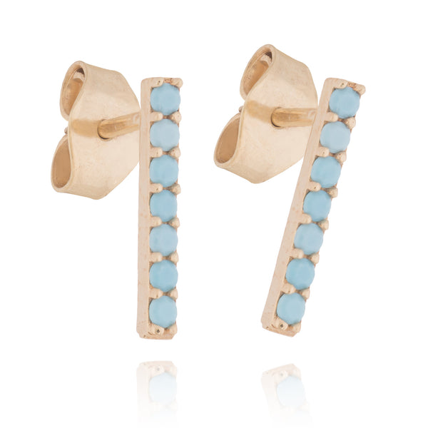 TURQUOISE BAR STUDS