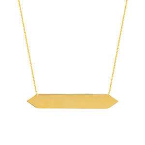 14K SPIKE ENDED BAR NECKLACE - adammarcjewels