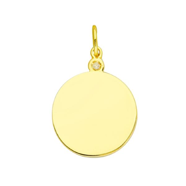 DIAMOND DISC 14K - adammarcjewels