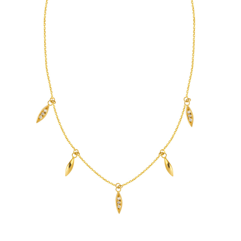 DIAMOND MARQUIS NECKLACE 14k - adammarcjewels