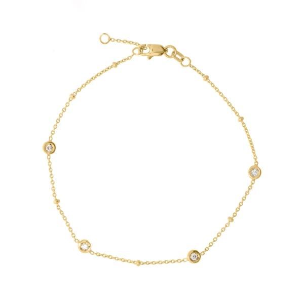 DIAMOND STATION BRACELET 14K - adammarcjewels