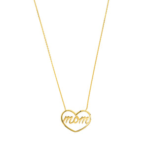 14K MOM HEART NECKLACE