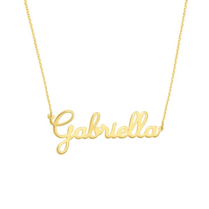 14K GOLD  CURSIVE NAMEPLATE NECKLACE