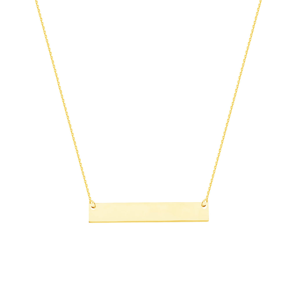 14K GOLD MINI BAR NECKLACE - adammarcjewels