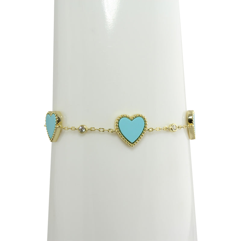 Turquoise in the mall heart bracelet