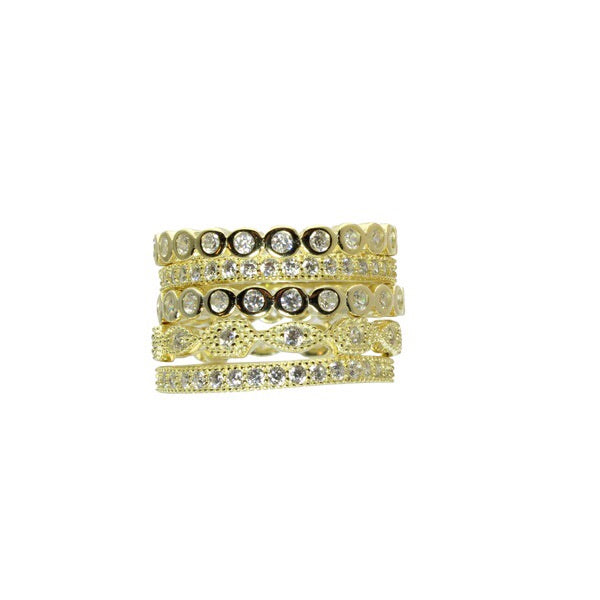 GOLD RING STACK SET - adammarcjewels