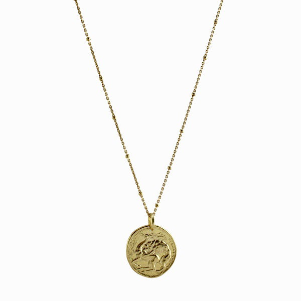 DOUBLE SIDED COIN NECKLACE