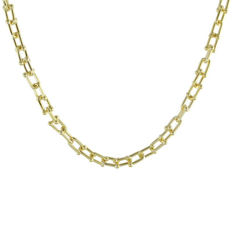 VERMEIL U LINK NECKLACE