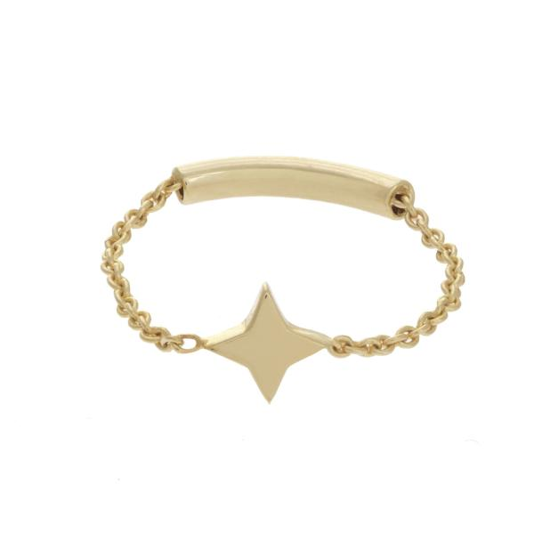 MINI STAR CHAIN RING 14K