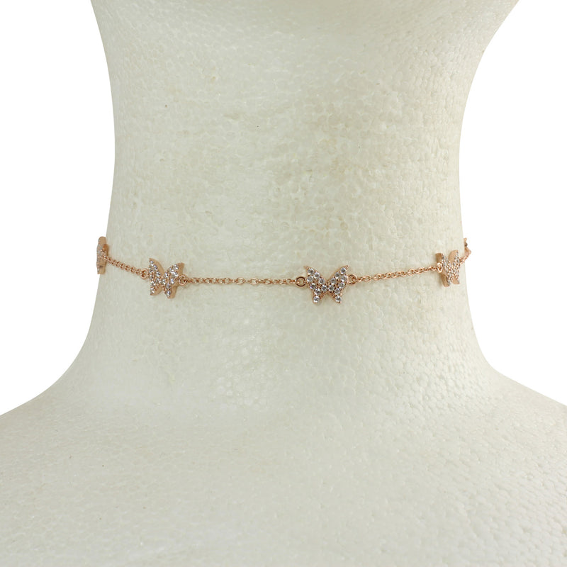 PAVÈ BUTTERFLY CHOKER NECKLACE