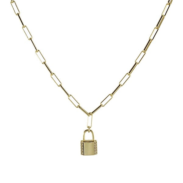 LONG LINK PADLOCK NECKLACE