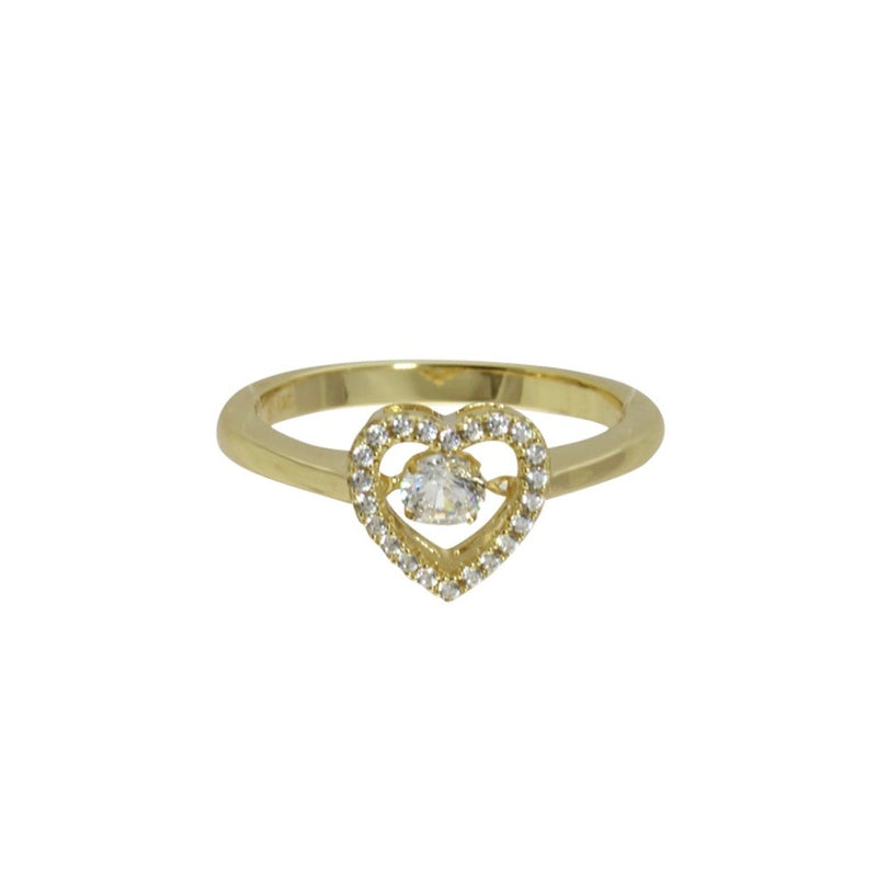 DANCING DIAMOND HEART RING